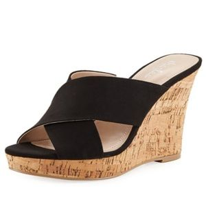 Charles David Latrice Crisscross Wedge Sandals